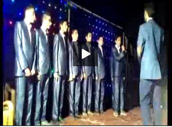 اجرای آهنگ نگران منی توسط گروه سرود