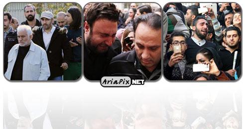 عکسهای تجمع مردم و هنرمندان مقابل بیمارستان به دلیل فوت مرتضی پاشایی