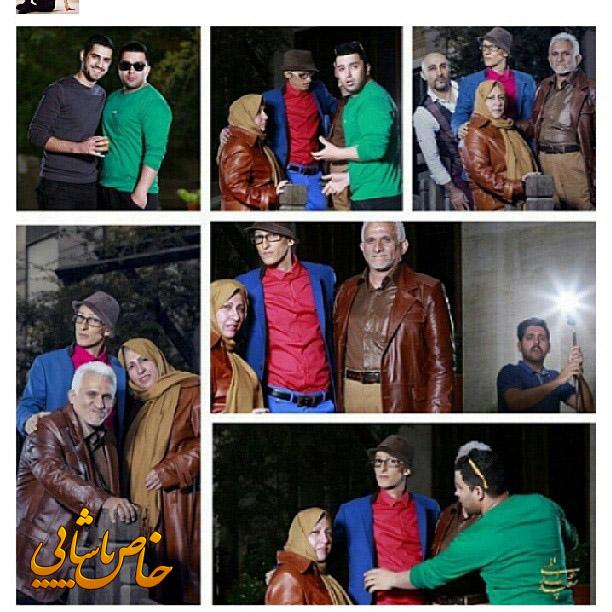 عکسهای مرتضی پاشایی به همراه پدر و مادرش
