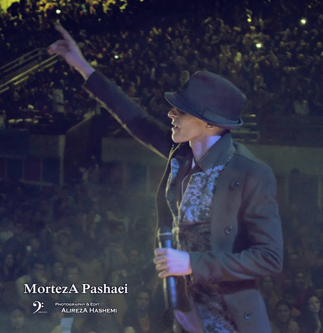 تک عکس جدید از مرتضی پاشایی در کنسرت سمنان