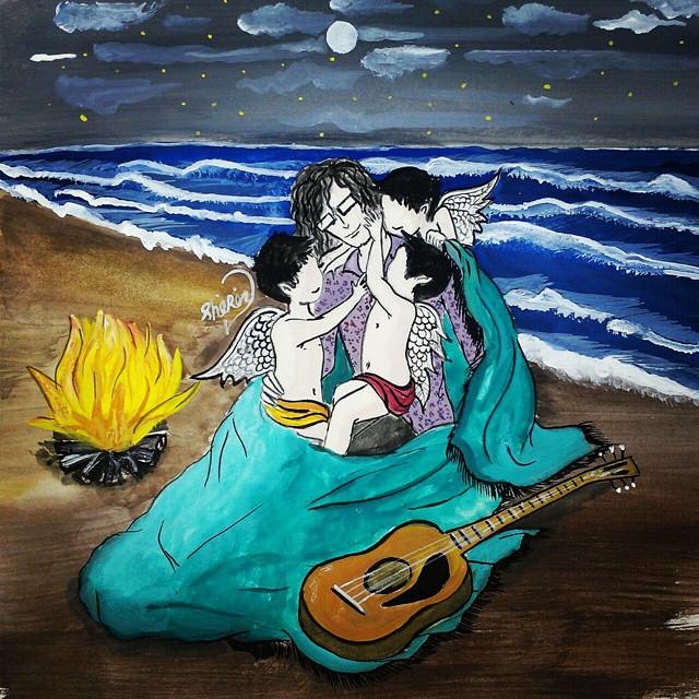 نقاشی زیبا از مرتضی پاشایی