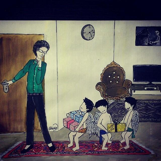نقاشی به مناسبت روز مادر